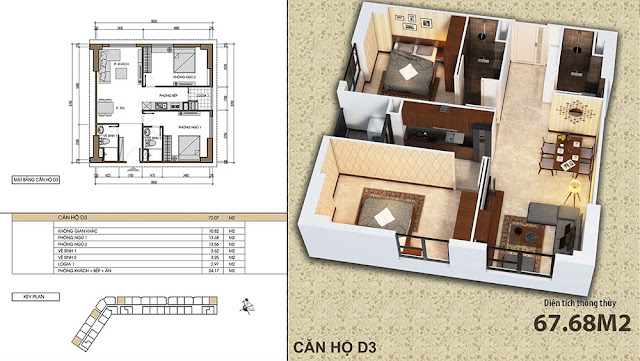 Căn hộ D3 chung cư Xuân Mai Dương Nội