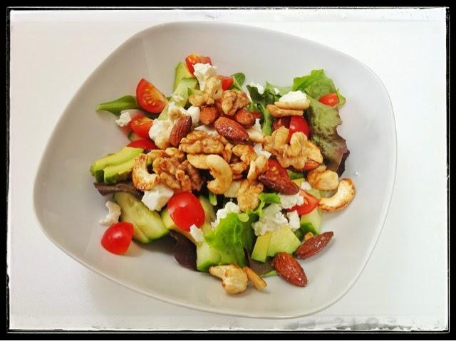 maple glazed nut salad, mean mother cooker