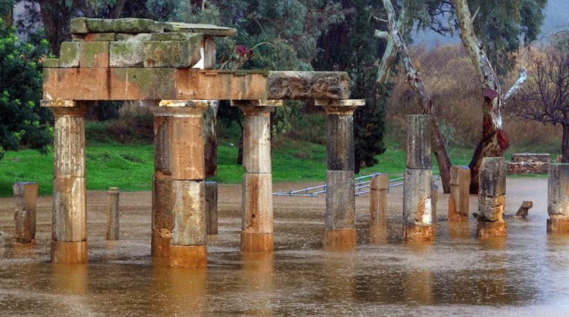 Temple of Artemis in Vavrona flooded
