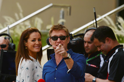 Натали Пинкхэм, Саймон Лазенби и Тэд Кравиц на Гран-при Бахрейна 2013