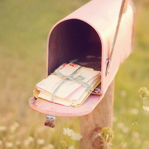 Caixa de correio rosa