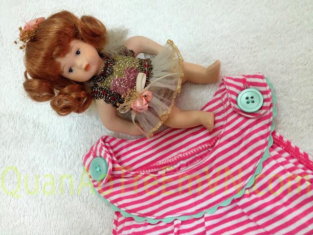 Bodysuit bé gái dạng váy hàng xuất made in cambodia, hiệu Carter, mẫu mèo.1