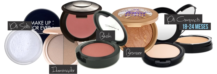 P Solto, Compacto, Iluminador, Bronzer e Blush