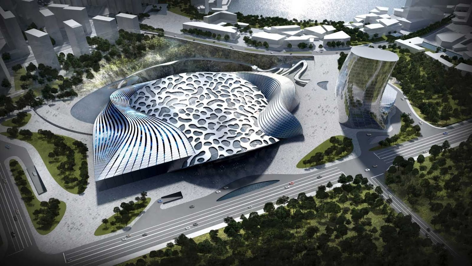 Changsha, Hunan, Cina: [DAWANG MOUNTAIN RESORT CHANGSHA BY COOP HIMMELB(L)AU]
