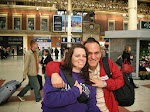 Susan and me amid the hustle and bustle at Victoria Station