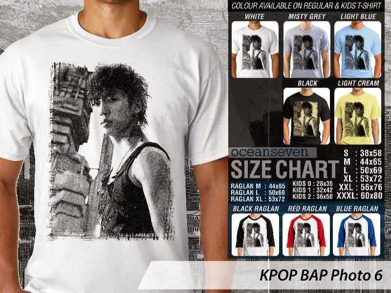 Kaos Bap 6 Photo K Pop Korea distro ocean seven