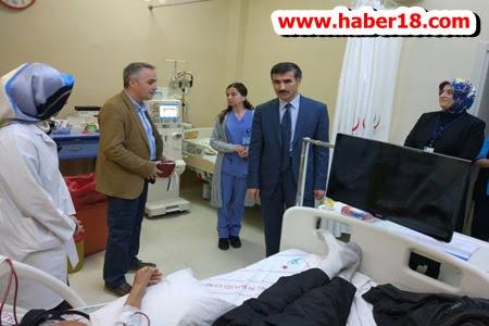 Genel Sekreter Dr. Kesin, Ilgaz Hastanesinde