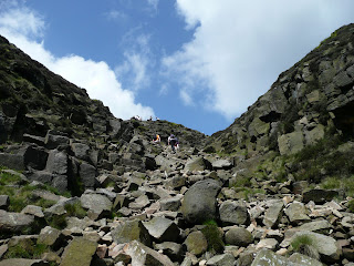 Getting nearer to the top of Grindsbrook Clough