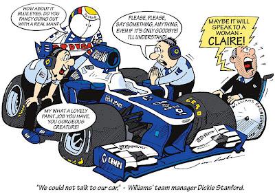 В Williams пытаются поговорить с машиной - комикс Jim Bamber