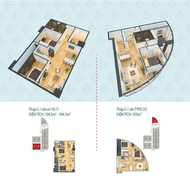 Thiết kế căn hộ Hà Đông Center