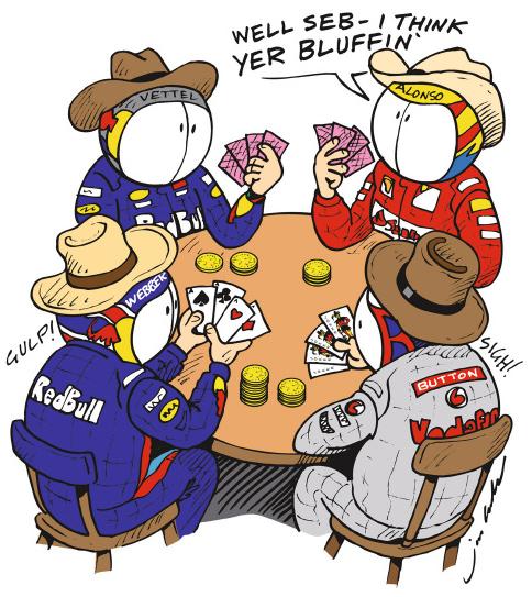 пилоты играют в покер в межсезонье - комикс Jim Bamber