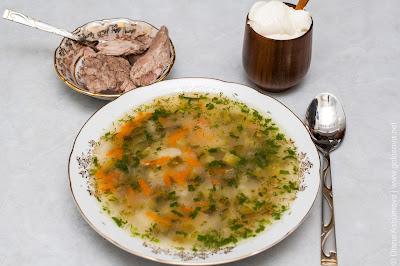 суп рассольник со свининой