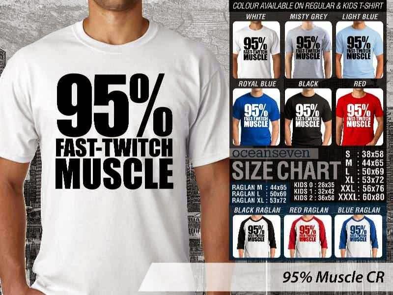 KAOS Desain Fitness & Gym 95% Muscle distro ocean seven