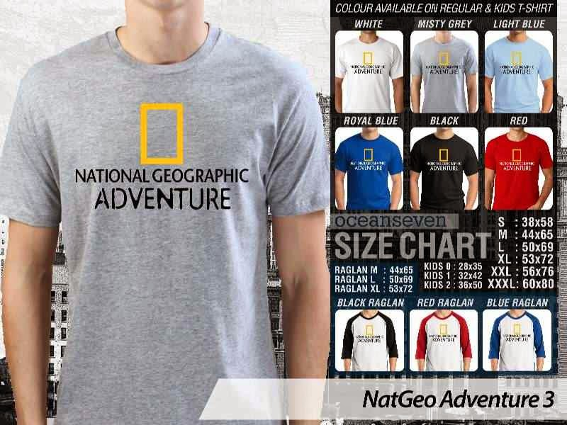 Kaos National Geographic NatGeo Adventure 3 distro ocean seven