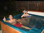 Me and Jeremy at his and Jeff's hot tub - much needed after the work from that day