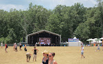 who are the 8 people that came to a festival to watch a giant TV?