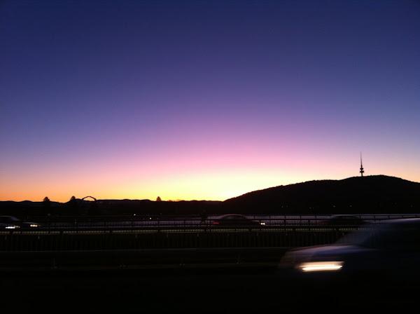 sunset telstrayama and the national museum