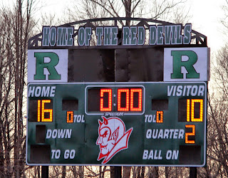 April 1 vs Hunterdon Central at Ridge Ridge won 16-10