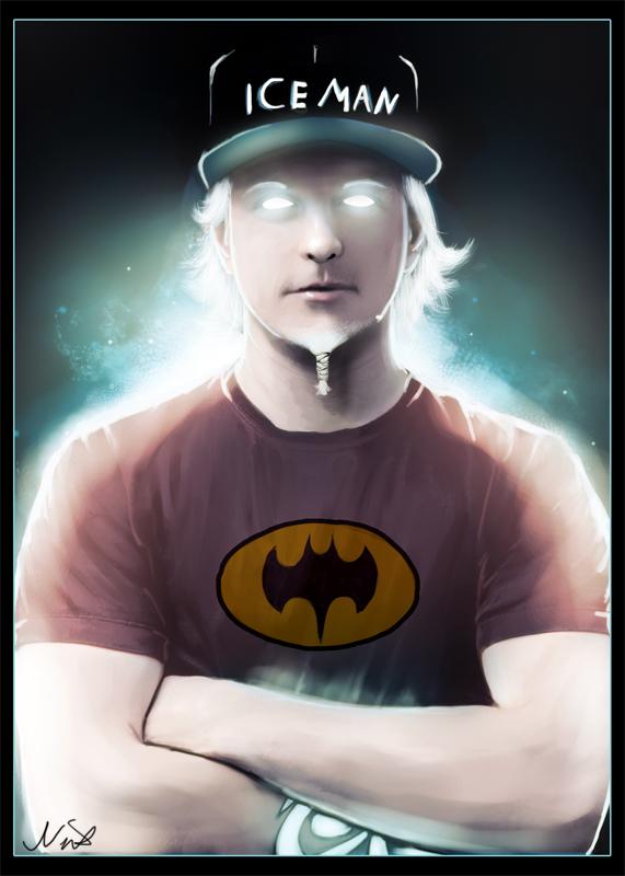 Кими Райкконен Iceman Batman by nixuboy