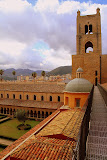 On The Rooftop Walkway at The Duomo - Monreale, Italy