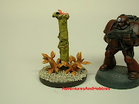 More alien flora green tube Fantasy and Science Fiction war game terrain and scenery