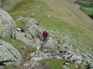 Descending from Rannerdale Knotts
