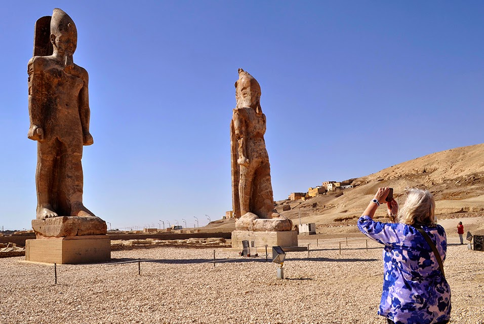 Egypt unveils colossal statue of Amenhotep III