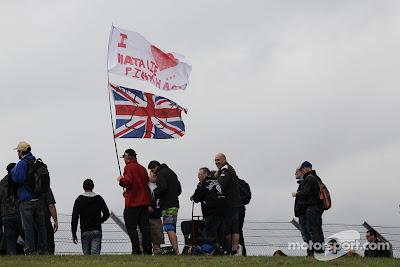 болельщики Натали Пинкхэм на Гран-при Великобритании 2013
