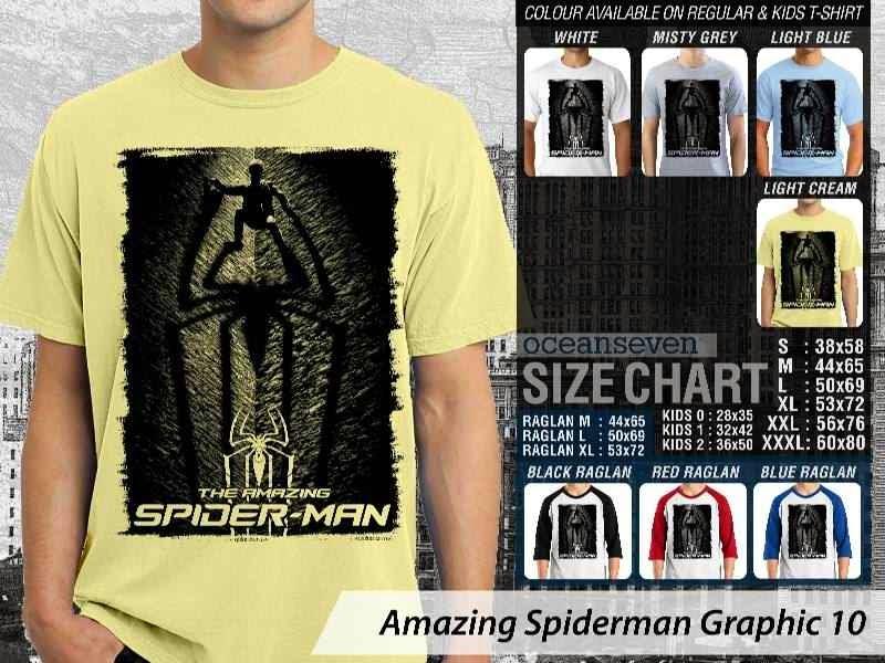 Kaos Film Superhero Amazing Spiderman Graphic 10 distro ocean seven