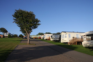 One of the caravan sites - The path to the coast