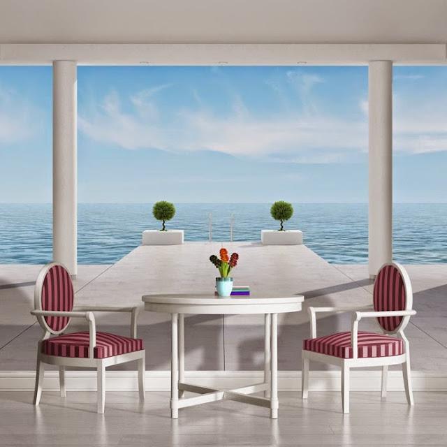 schlafzimmer mit ausblick w nde gestalten mit natur fototapeten dekomilch. Black Bedroom Furniture Sets. Home Design Ideas