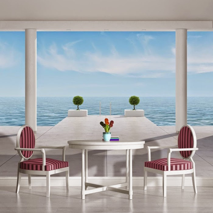 Karibik Für Zu Hause: 40+ Unglaublich Schöne Fototapeten Designs ... Schlafzimmer Farben Blau