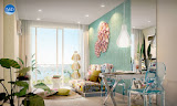 one bedroom apartment in a condominium grande caribbean condo resort    for sale in Jomtien Pattaya