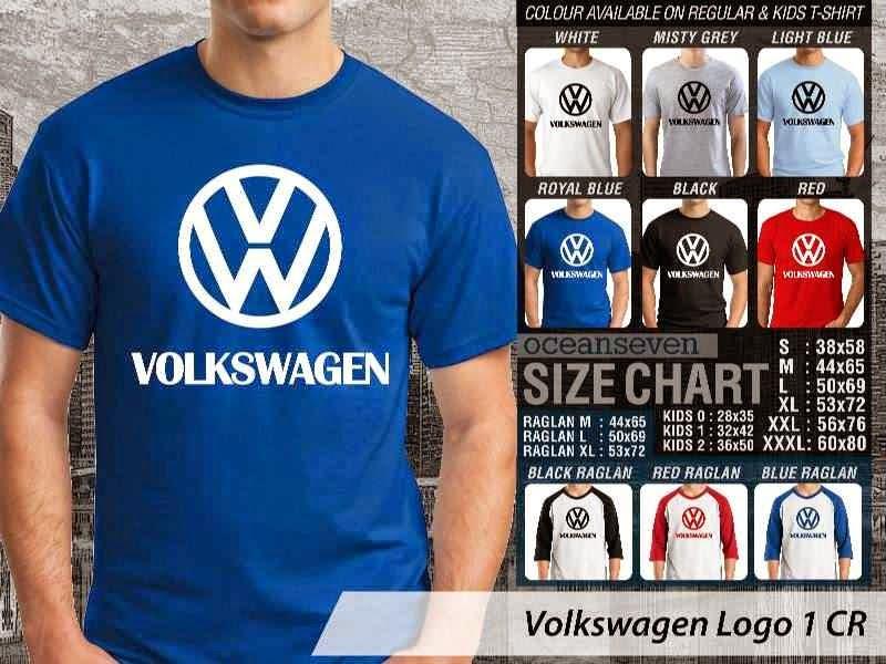 KAOS Volkswagen Logo Otomotif distro ocean seven