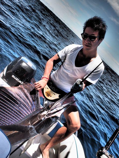 Камуи Кобаяши и рыба-меч Swordfish