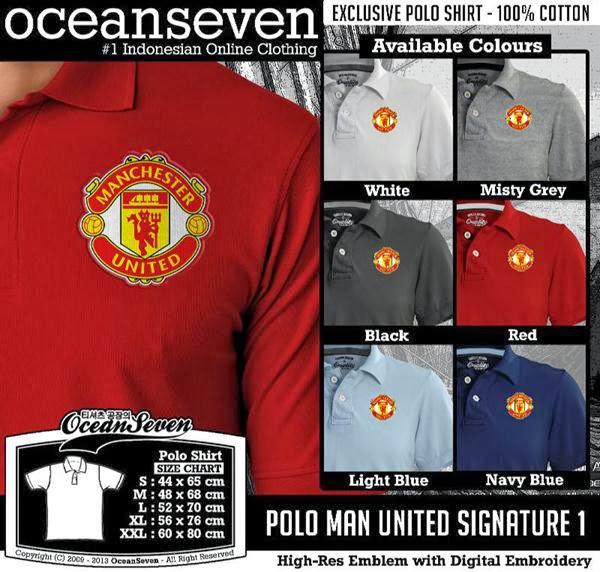 POLO MU Man Utd Manchester United Signature distro ocean seven