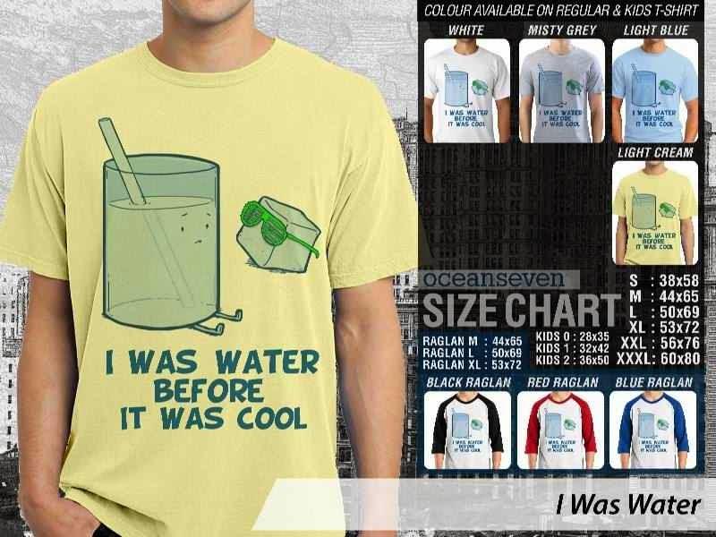 Jual Kaos 9Gag Lucu Meme I Was Water distro ocean seven