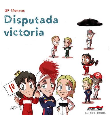 анимешная картинка Noe Izumi по Гран-при Монако 2012