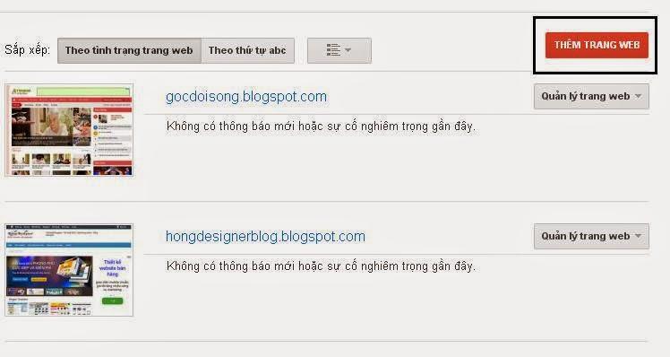 Hướng dẫn seo blogspot với google webmaster tools