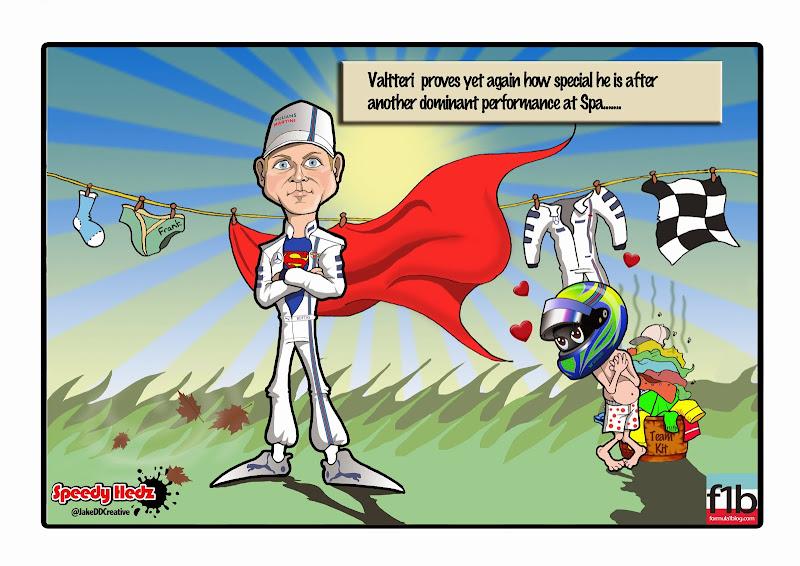 Вальтери Боттас - доминирующее выступление в Спа - комикс SpeedyHedz по Гран-при Бельгии 2014