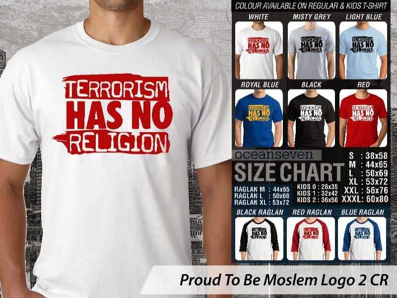 KAOS Islami Muslim Terrorism has no religion Proud To Be Moslem Logo 2 distro ocean seven