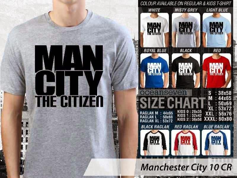 KAOS Man City Manchester City 10 Liga Premier Inggris distro ocean seven