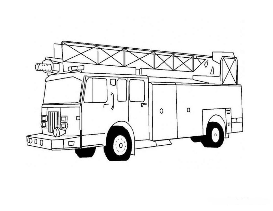 fire truck coloring pages - Fire Truck Coloring Page Firefighting-Equipment