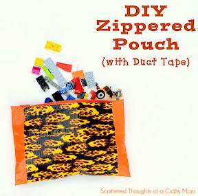 Duct Tape Pouch w/ Zipper