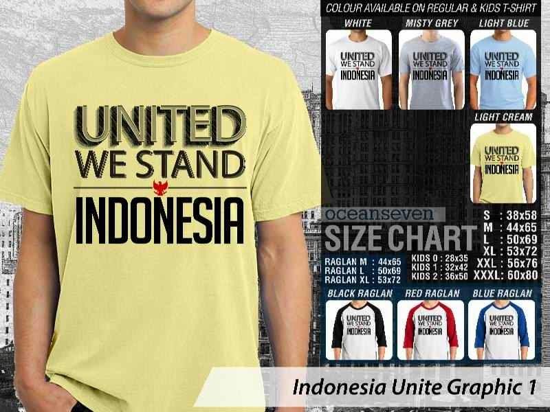 KAOS Indonesia Unite Graphic 1   KAOS Desain United We Stand Indonesia garuda distro ocean seven