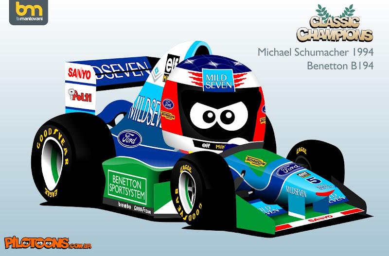 Михаэль Шумахер 1994 Benetton B194 pilotoons