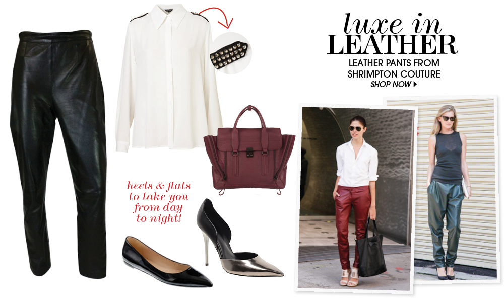 Vintage Leather = Modern Chic