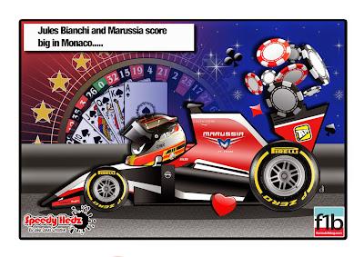 Жюль Бьянки и Marussia выигрывают по-крупному на Гран-при Монако 2014 - комикс SpeedyHedz