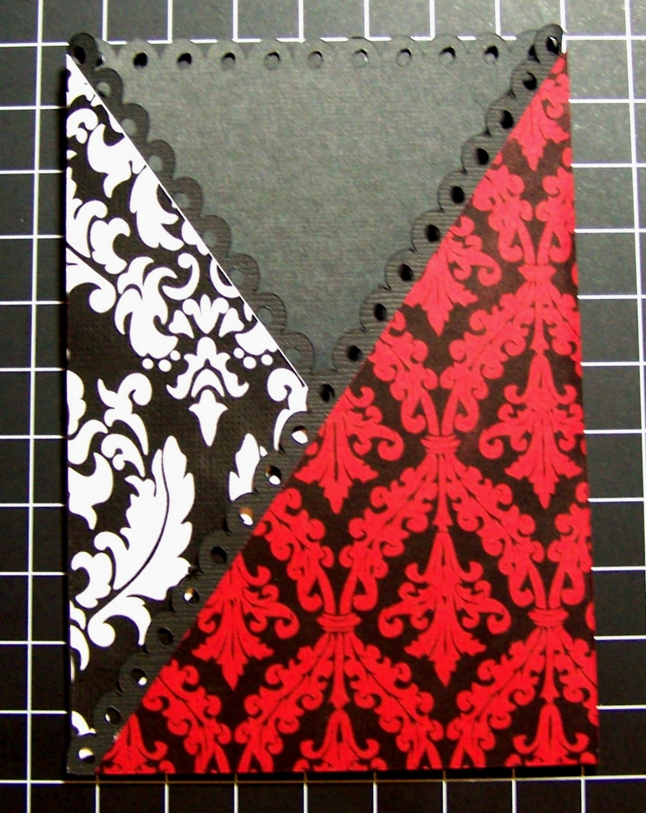 folded the red and black