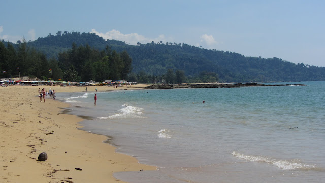 Khao Lak's long and shallow beach. The position and undersea topography of this beach were responsible for the high death toll on the Boxing Day Tsunami.